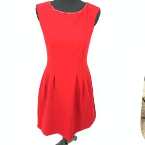 Red Sheath Dress Diamond Neckless Dress 6